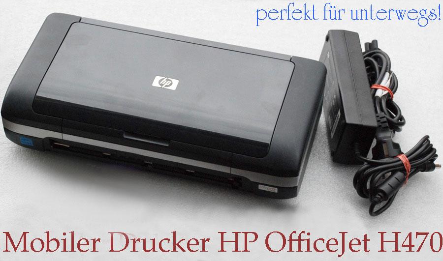 mobiler drucker hp officejet h470 usb f r windows xp 7 8 mit akku power supply ebay. Black Bedroom Furniture Sets. Home Design Ideas