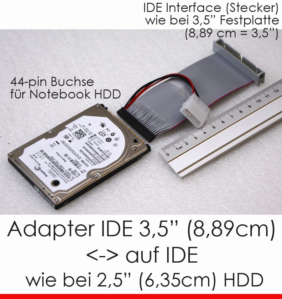 kabel cable adapter 2 5 ide notebook festplatte female. Black Bedroom Furniture Sets. Home Design Ideas