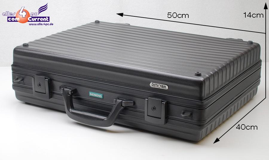 solider teuerer koffer rimowa f r notebook laptop bis 17 wide schwarz ebay. Black Bedroom Furniture Sets. Home Design Ideas