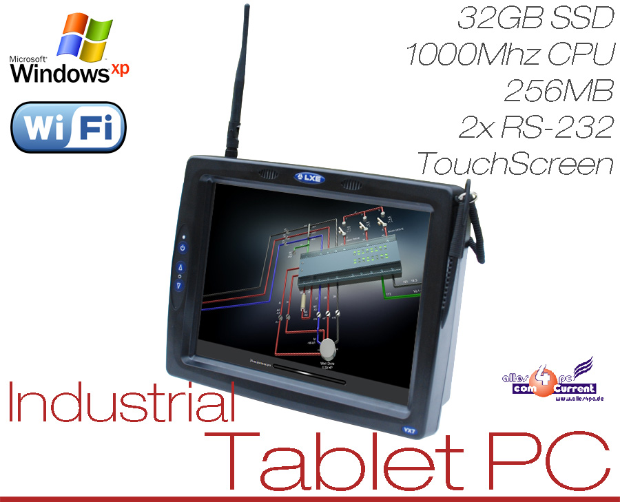 industrial tablet pc touchscreen 32gb ssd hdd 1ghz wlan usb rs 232 12v sonderbau ebay. Black Bedroom Furniture Sets. Home Design Ideas