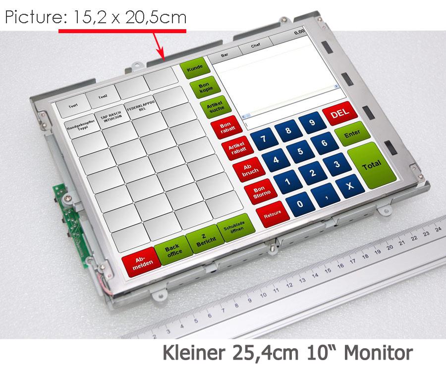 kompakter 25 cm 10 monitor kontrollmonitor 800x600 tft display 230 v 12v m77. Black Bedroom Furniture Sets. Home Design Ideas