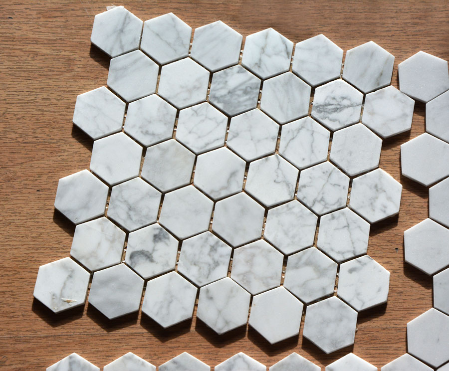 bees mosaic 30 5x30 5cm marble mosaic white grey marble. Black Bedroom Furniture Sets. Home Design Ideas