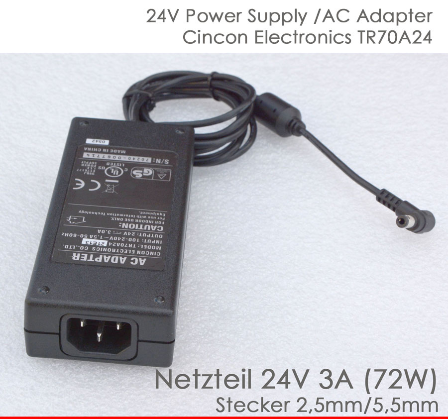 24 volt 3a power supply adapter 24v for printer intermec. Black Bedroom Furniture Sets. Home Design Ideas
