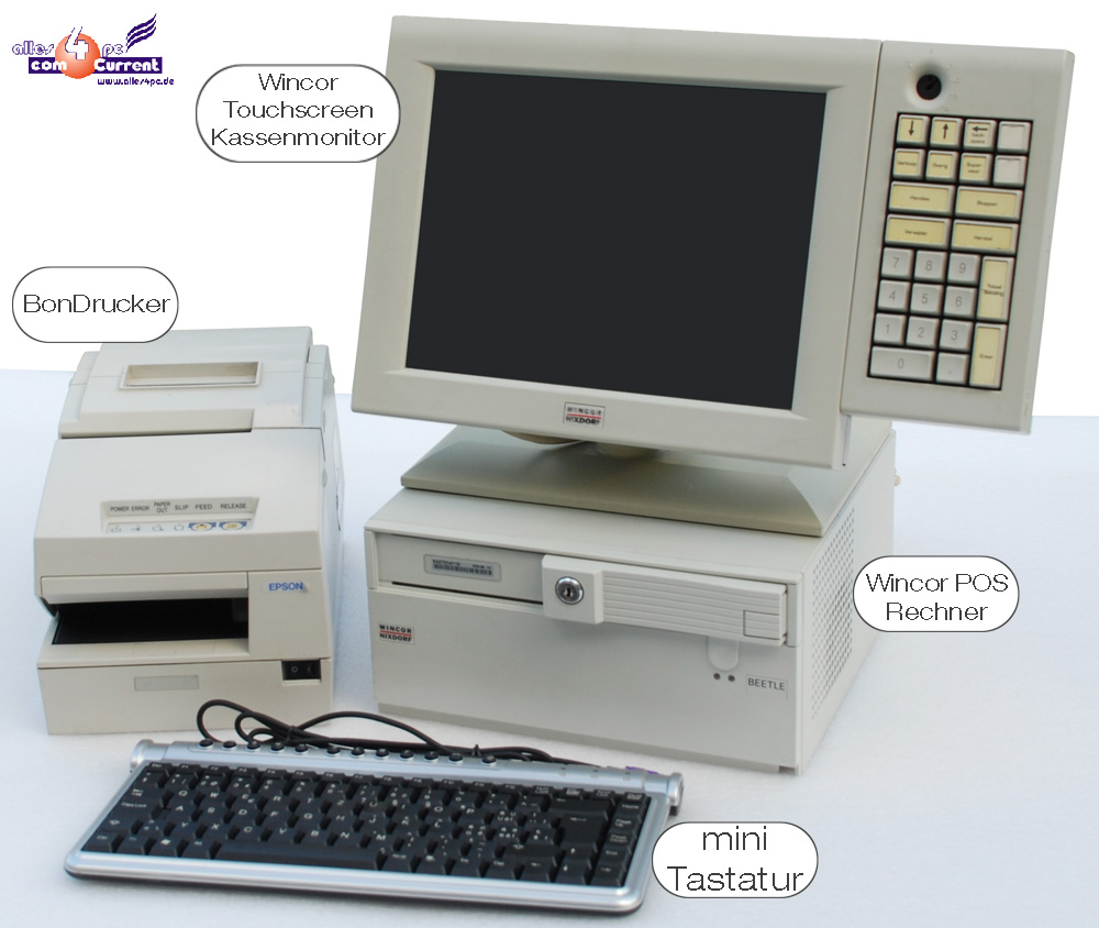 Wincor Siemens Pos Cash Register Tft Touchscreen Monitor