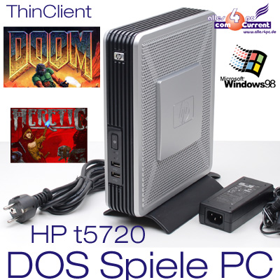 PC-COMPUTER-HEWLETT-PACKARD-HP-T5720-WINDOWS-98-DOOM-HERETIC-ALTE-MS-DOS-SPIELE