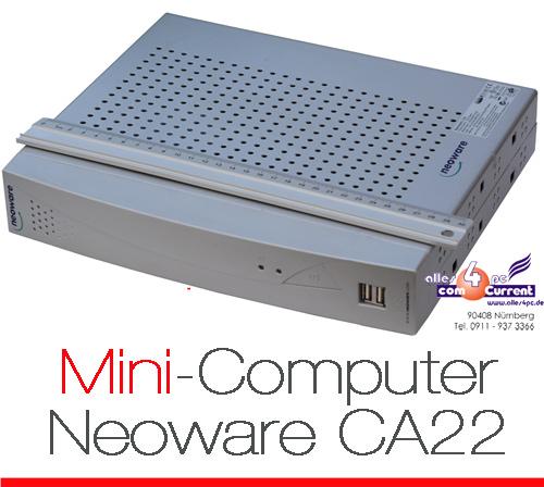 MINI-PC-THIN-CLIENT-NEOWARE-CA22-DVI-VGA-PCI-256-MB-12V-NETZTEIL-RS-232-PARALLEL