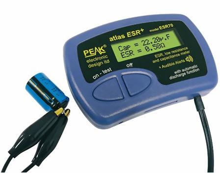Peak atlas esr esr70 esr testeur elko sans dessouder esr for Comment tester un condensateur