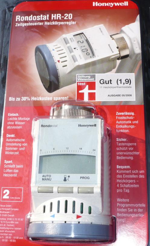 thermostat honeywell rondostat hr 20 heizk rperregler hr 20e ovp mit 4x adapter ebay. Black Bedroom Furniture Sets. Home Design Ideas