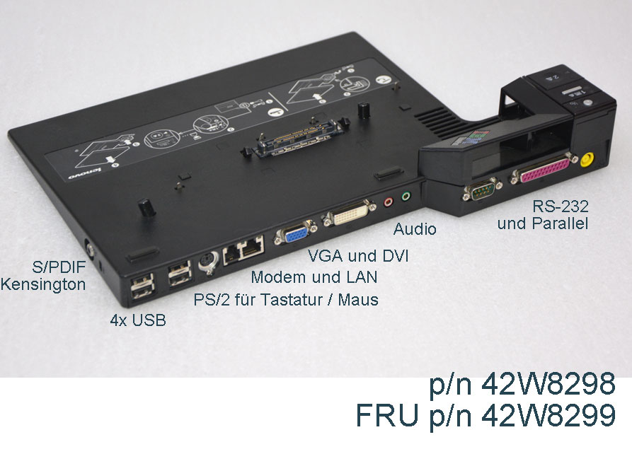 Lenovo ibm duplicatore di porte tipo 2504 per thinkpad t60 for Porta s pdif