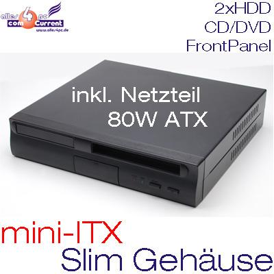 SLIM-MICRO-GEHAUSE-FUR-MINI-ITX-MOTHERBOARD-INKL-NETZTEIL-PSU-80W-SCHWARZ-CASE