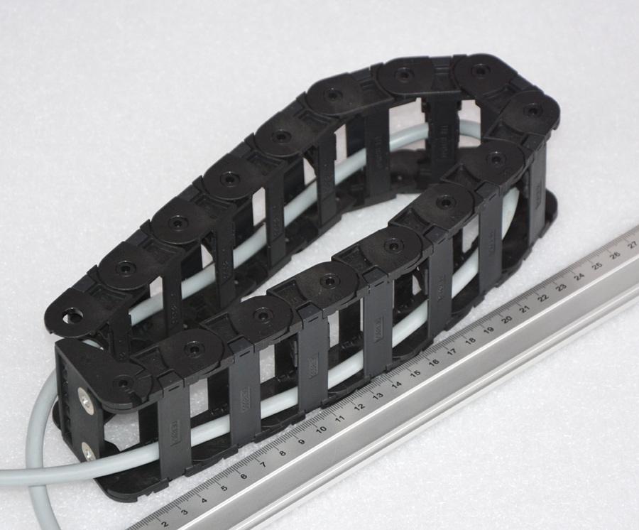 kabelf hrung 20x60mm 52cm flexibler kabelkanal schleppkette ketten anschluss b ebay. Black Bedroom Furniture Sets. Home Design Ideas