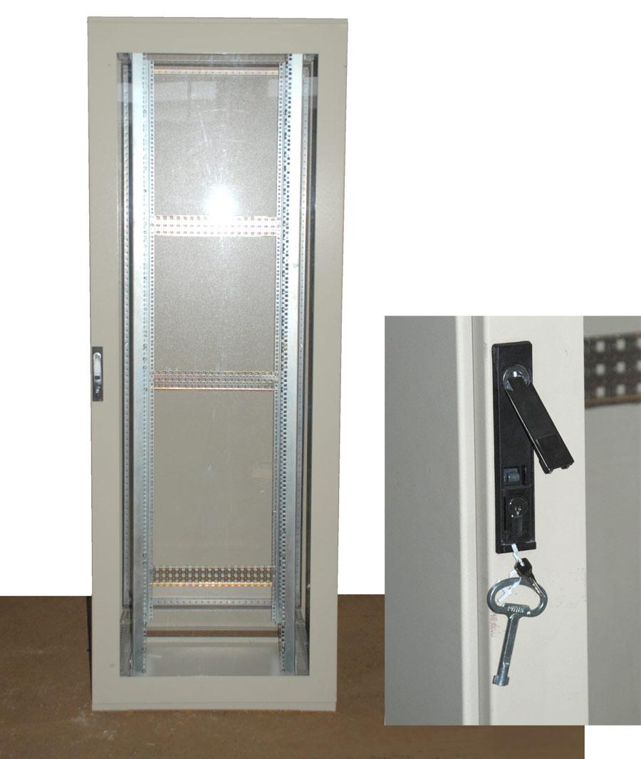 19 49cm 42he rack netzwerkschrank rittal mit glasst r mit for Sofa 80 cm tief