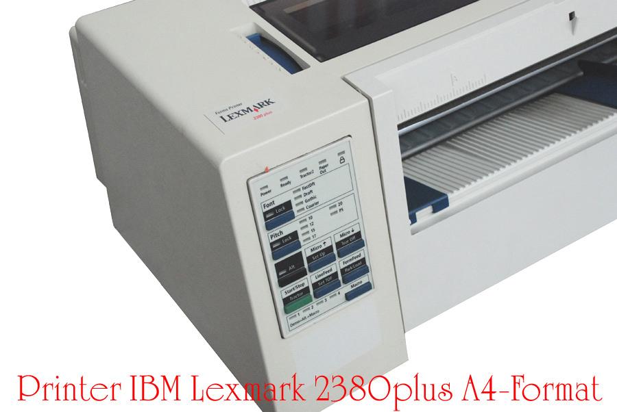 Details about Dot-Matrix Printer IBM Lexmark 2380 plus + New Band dot Msdos  Win 98