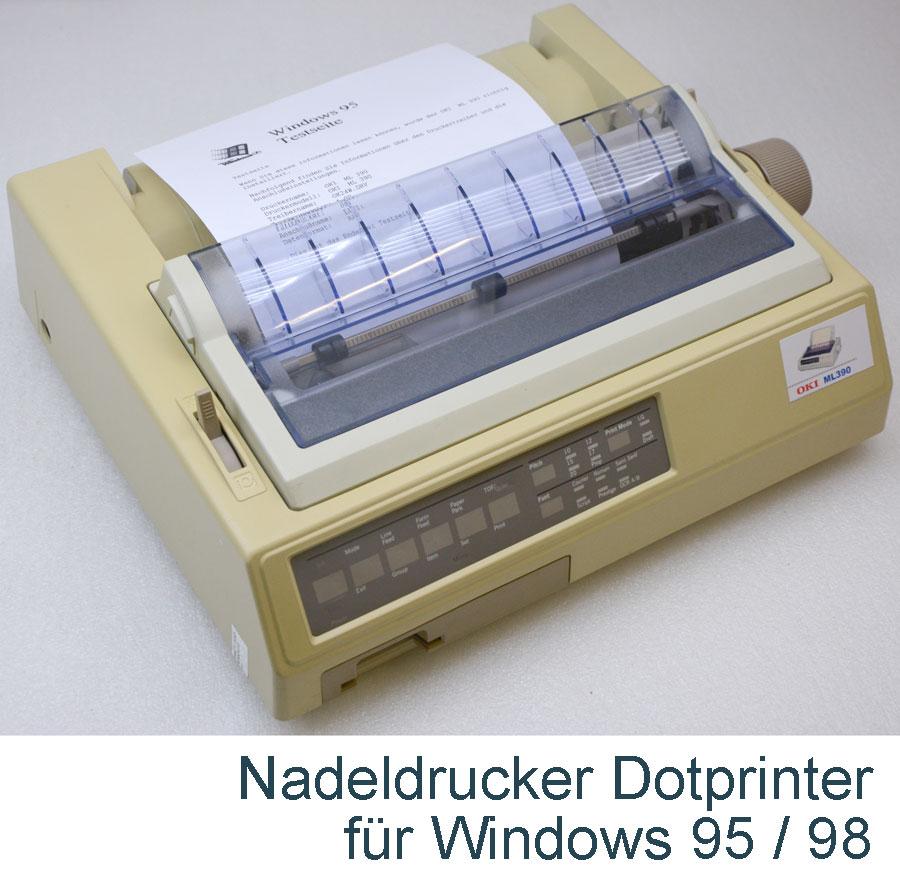 MS-DOS DRUCKER NADELDRUCKER OKI MICROLINE 390 FÜR EINZELBLATT + ...