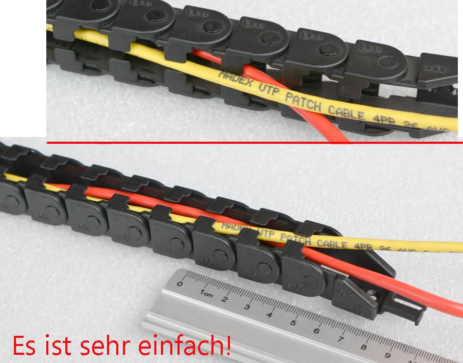1M Hochwertige Nylon Energiekette Schleppkette Kabelführung 18 x 37mm TOP