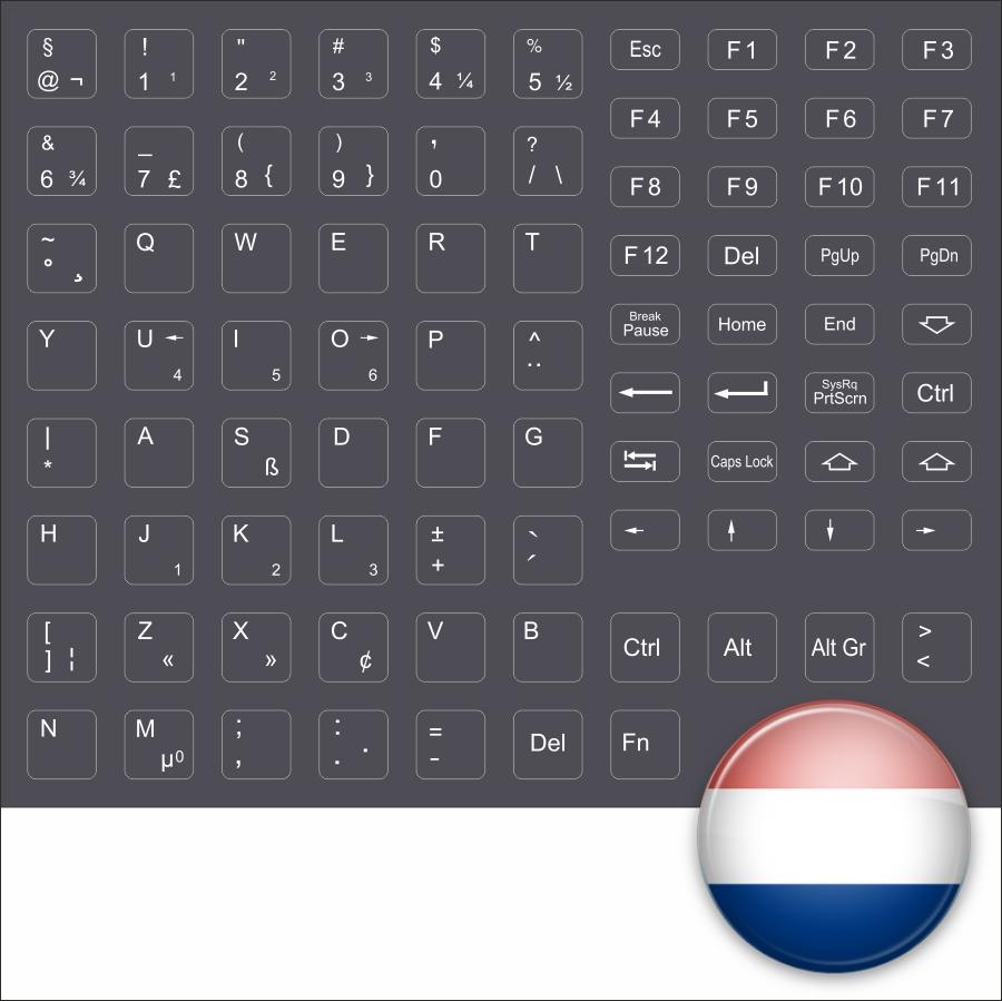Keybord Sticker Dutch Black Keystick Netherland Black Holland Notebook