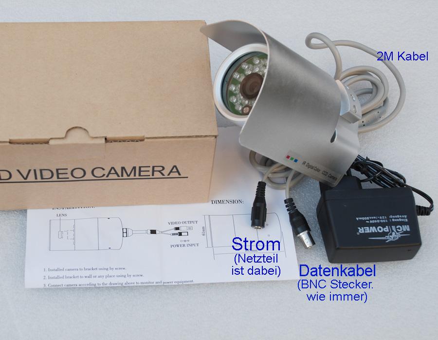 berwachungskamera cctv hw 815 nachtsichtkamera led ir. Black Bedroom Furniture Sets. Home Design Ideas