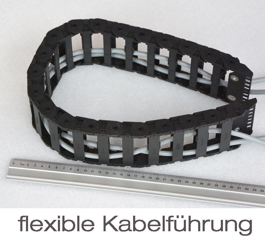 SERVER KABELFÜHRUNG 20x80MM FLEXIBLE CABLECANA SCHLEPPKETTE KETTEN ...
