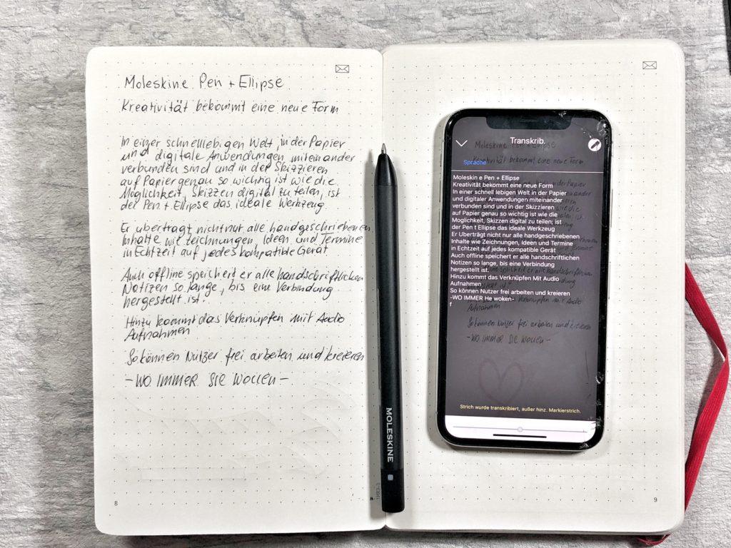 MOLESKINE SMART PEN PLUS MIT DATENKABEL SMARTPEN FÜR ANDROID IPHONE NEU